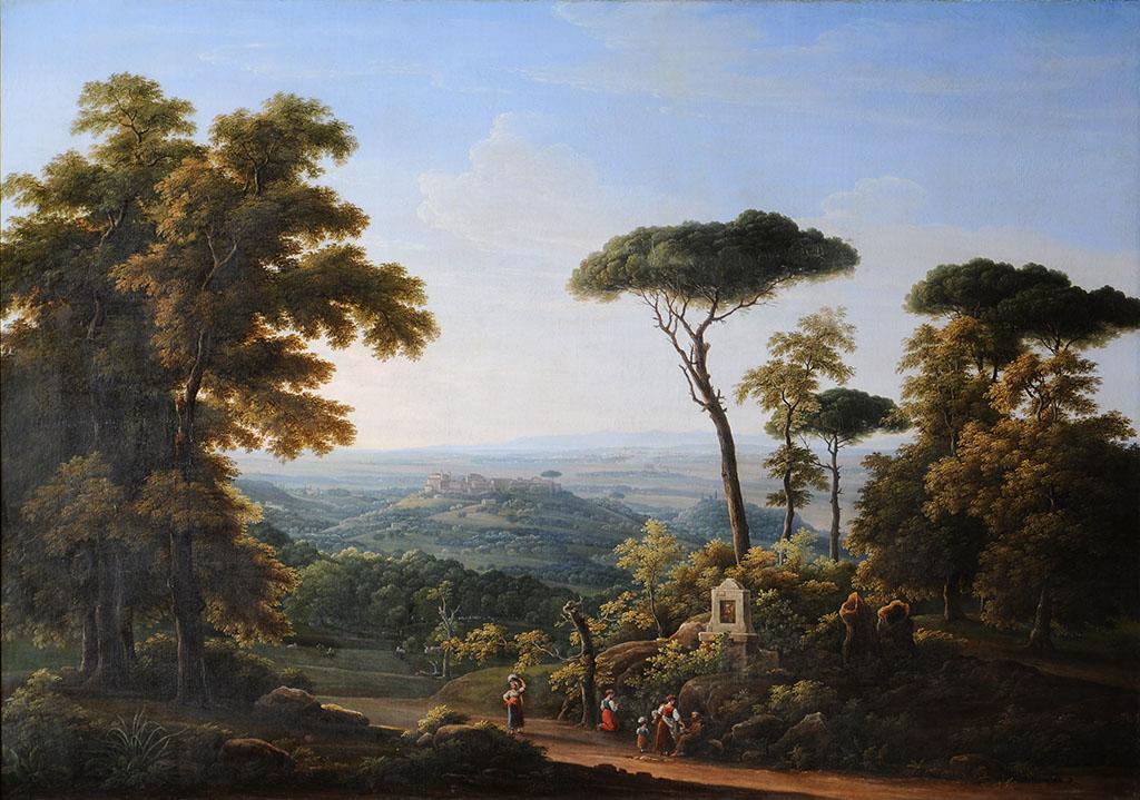 """Матвеев Федор Михайлович (1758-1826). """"Итальянский пейзаж"""""""