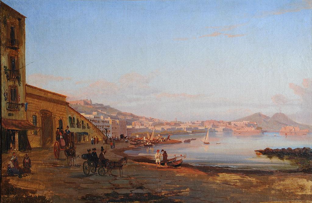 """Джиганте Джачинто / Gigante Giacinto (1806-1876). """"Берег в Сорренто"""""""