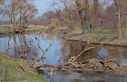 Нажмите на изображение для увеличения.  Название:Левитан И.И.Деревья над рекой. 1896.Б., накл. на картон, м.jpg Просмотров:65 Размер:124.7 Кб ID:34249