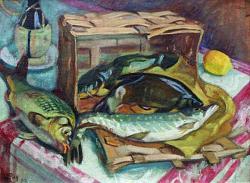 Нажмите на изображение для увеличения.  Название:Jean PUY (1876-1960)Nature morte aux poissons, 1912.jpg Просмотров:263 Размер:67.4 Кб ID:6112
