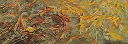 Нажмите на изображение для увеличения.  Название:Екатерина Ворона. Красные и золотые. 2014. Холст, пастель. 70х200.jpg Просмотров:118 Размер:83.3 Кб ID:34282