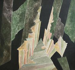 Нажмите на изображение для увеличения.  Название:Лес. Просека. Оргалит, акрил. 90.5х97. 2011 i..jpg Просмотров:5069 Размер:129.6 Кб ID:16204