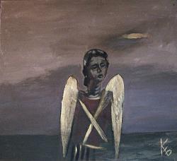 Нажмите на изображение для увеличения.  Название:Ангел. Оргалит,акрил. 90-100см. 2010г. i..jpg Просмотров:2316 Размер:110.6 Кб ID:16219