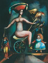 Нажмите на изображение для увеличения.  Название:Puppet_Show-1993-Oil_on_Canvas-60x48.jpg Просмотров:415 Размер:122.7 Кб ID:30617