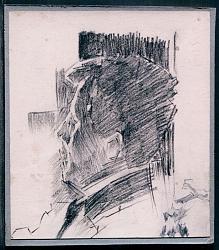 Нажмите на изображение для увеличения.  Название:Михаил Врубель. Портрет неизвестного на фоне окна. 1904. Бум., каранд..jpg Просмотров:60 Размер:95.4 Кб ID:34250
