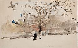 Нажмите на изображение для увеличения.  Название:Валентин Серов. Пейзаж. 1890-1900. Бум., акварель.jpg Просмотров:89 Размер:71.0 Кб ID:34251